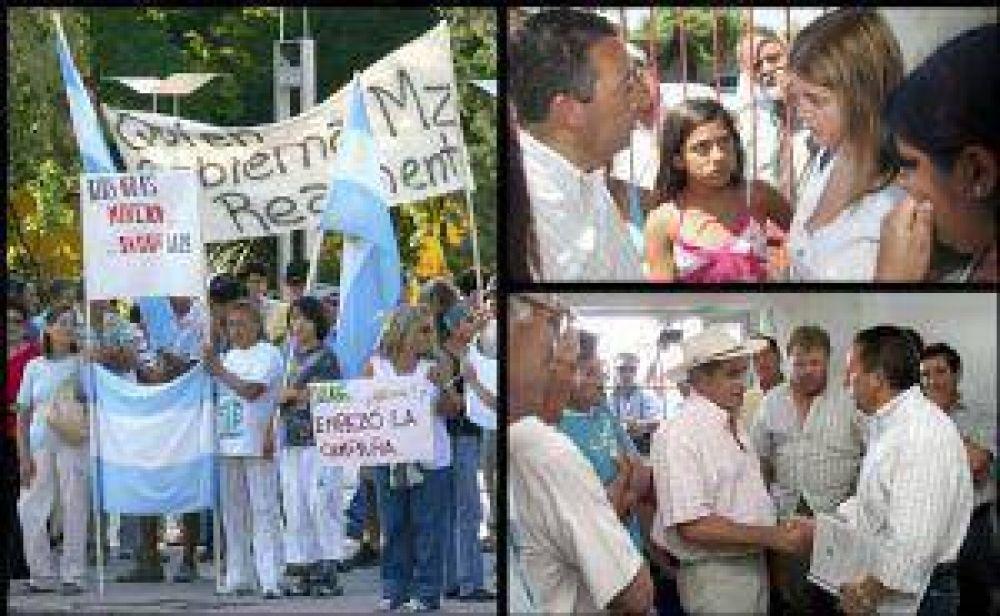 Jaque declaró zona de desastre a Alvear y calmó a los productores sureños