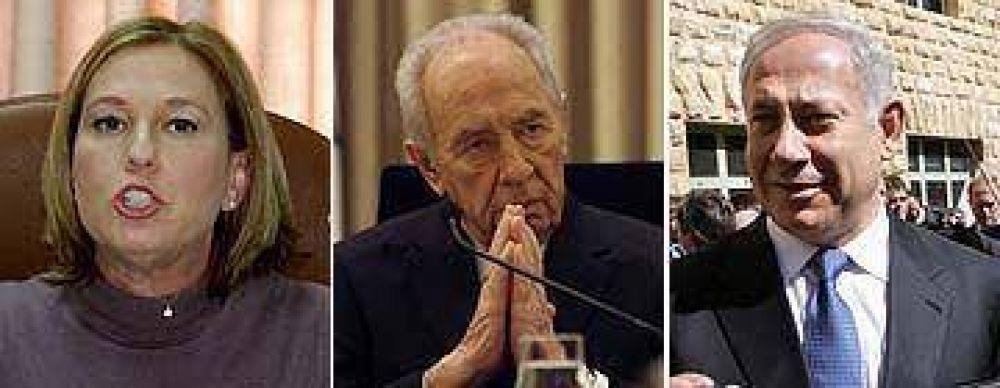 Peres convocó nuevamente a Livni y Netanyahu para que formen un gobierno de coalición