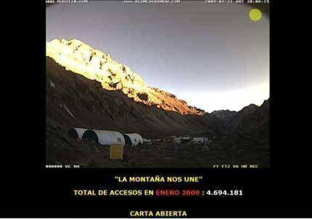 Andinistas difundieron en Internet una carta para respaldar a los rescatistas.