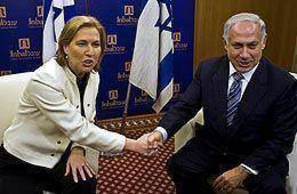 Netanyahu no logró convencer a Livni para que integre su gabinete, pero volverán a reunirse