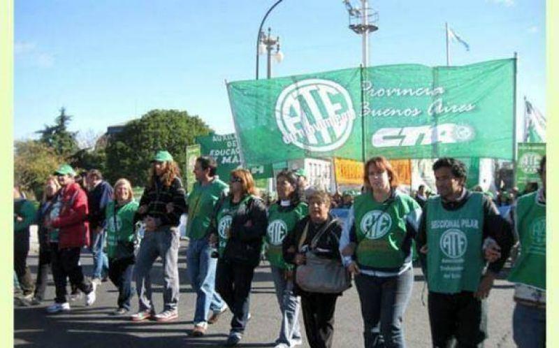 Fuerte reclamo de ATE Pilar por subas salariales: marcha en La Plata y Plaza de Mayo