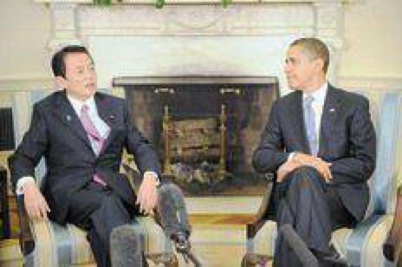 Obama más Aso, premier japonés, da Obamaso