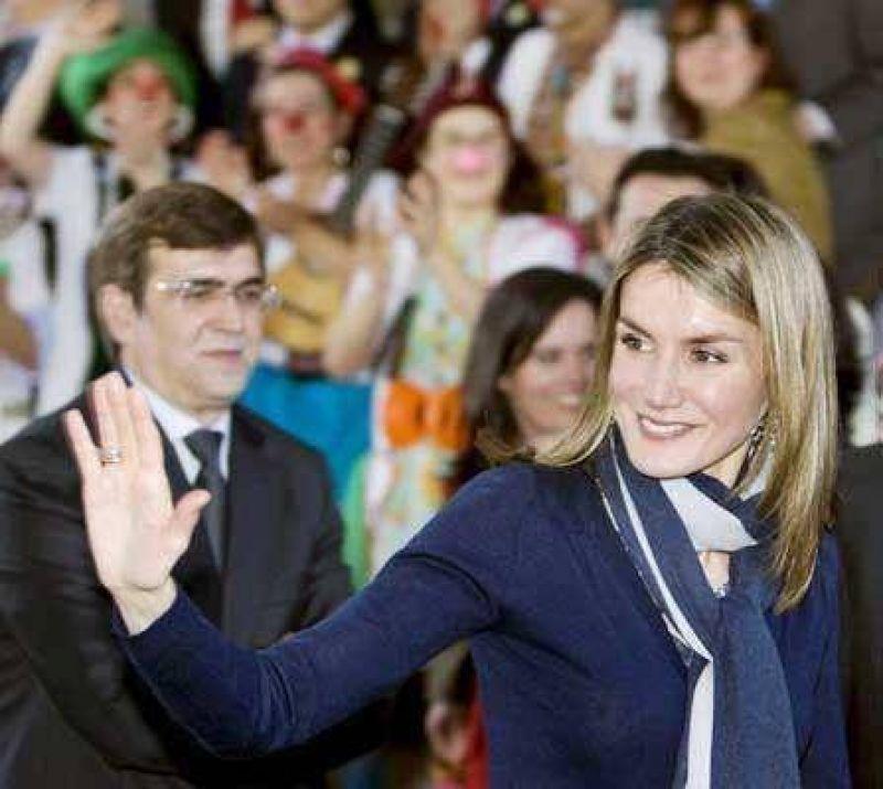 Un argentino increpó a la princesa Letizia