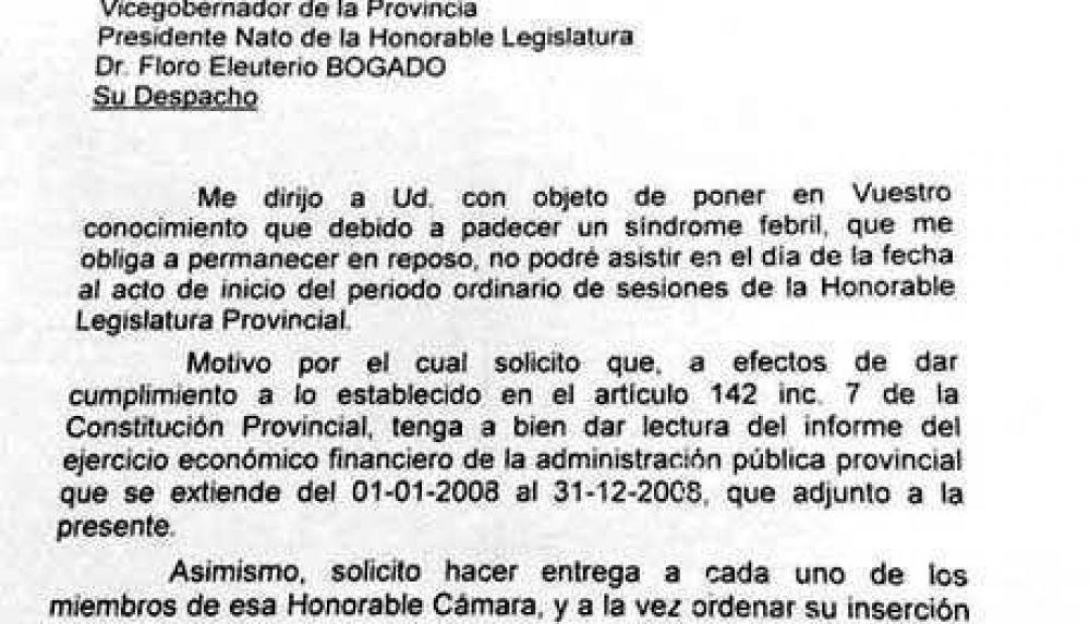Gómez: El Gobernador se encuentra bien de salud.