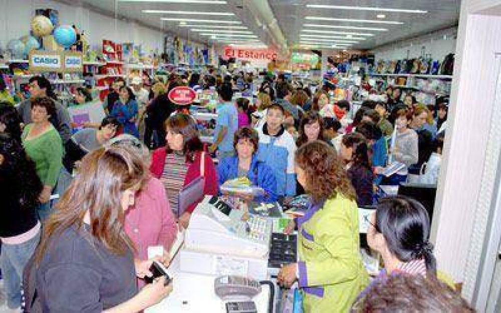 """En la Cámara de Comercio """"preocupa"""" la fuerte caída de las ventas en febrero."""
