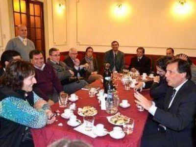 Los concejales de Compromiso Federal se reunieron con Ponce y su gabinete
