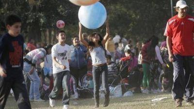 """La alegría y los juegos invadieron el Parque 9 de Julio en """"el día más feliz del año"""""""
