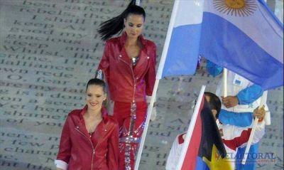 Crismanich puso en alto la bandera durante el cierre de los Juegos Olímpicos en Londres