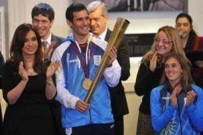 Cristina recibió a la delegación argentina que fue a Londres 2012