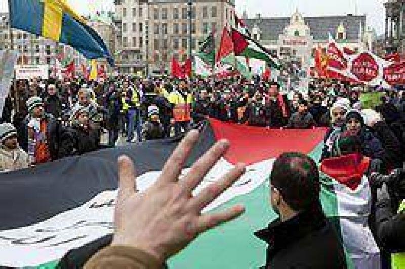 Incidentes en Suecia durante manifestación de militantes palestinos