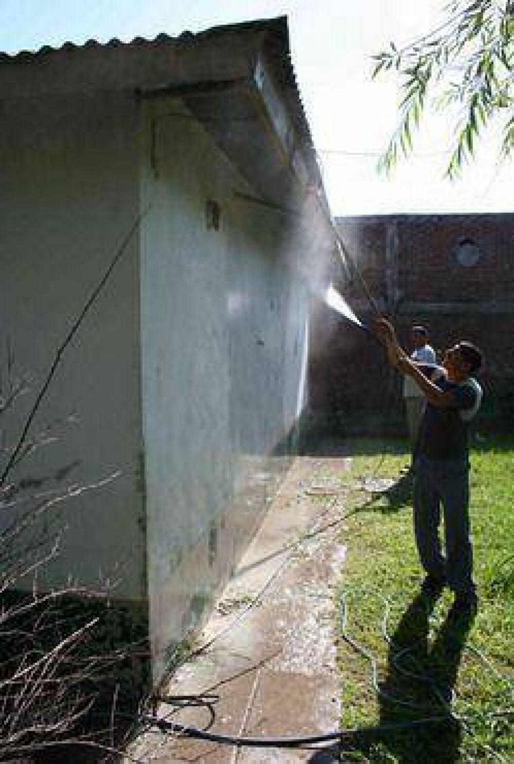 Municipalidad de Campana: Se realizan trabajos de mantenimiento en el Centro de Salud del barrio San Cayetano