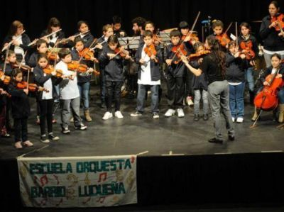 Chicos de Ludueña dieron un concierto a beneficio
