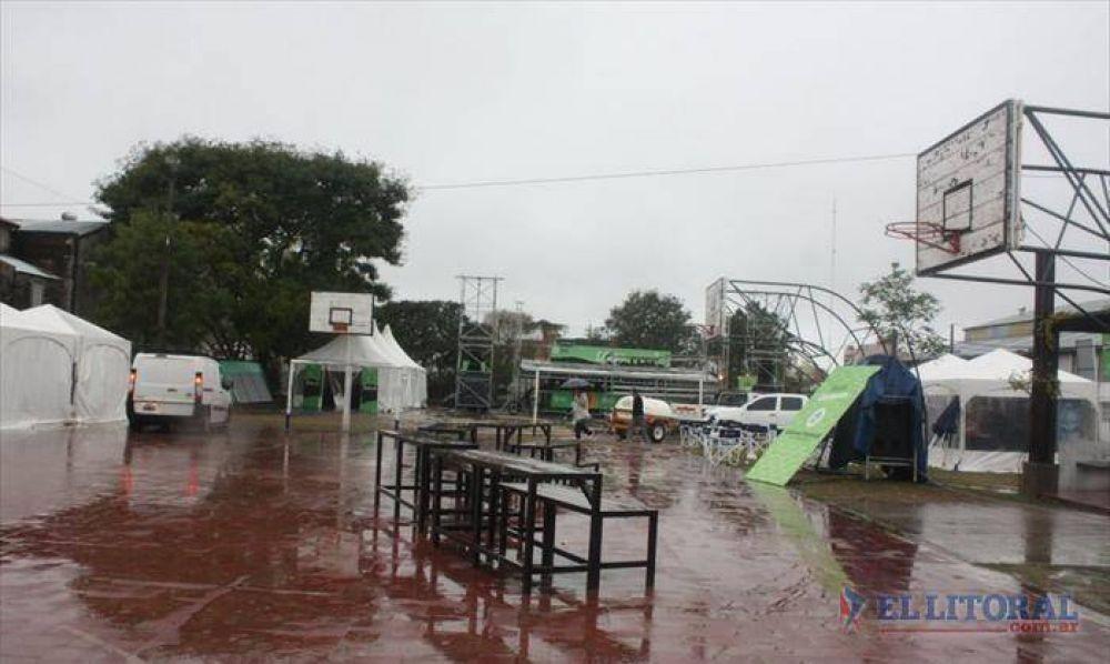 Un final de fiesta anticipado por las intensas precipitaciones que afectaron al predio