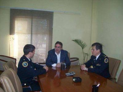 Jalil recibió al jefe de la Policía Federal