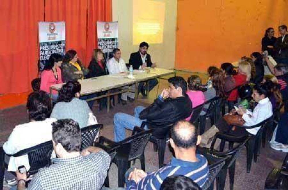 Presupuesto participativo: Vecinos de la zona este definen sus obras