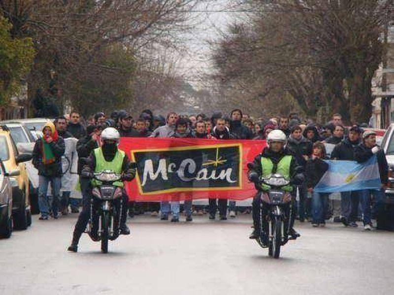 Trabajadores de Mc Cain en alerta