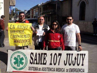 Empleados del SAME Jujuy reclaman mayor seguridad para realizar su trabajo