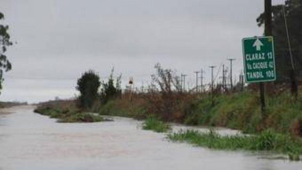 Rutas cortadas por la lluvia