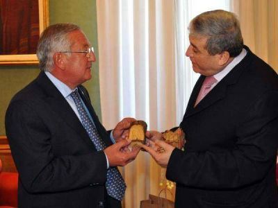 Fellner recibió al embajador de Palestina en Argentina, Walid Muaqqat