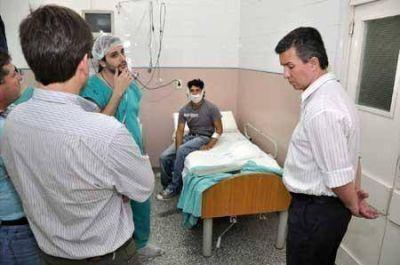 Aguilar destacó la labor médicos solidarios en Sáenz Peña
