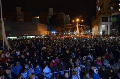 M�s de 10 mil personas festejaron los 418 a�os de San Luis