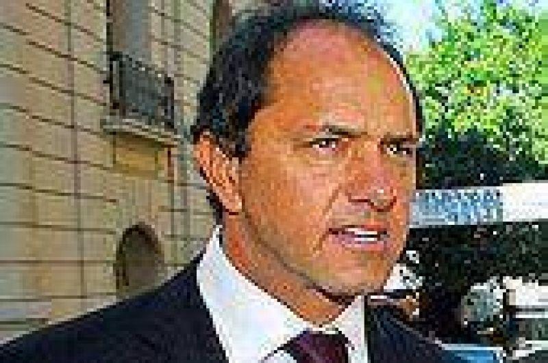 Scioli justificó las subas en el servicio de agua