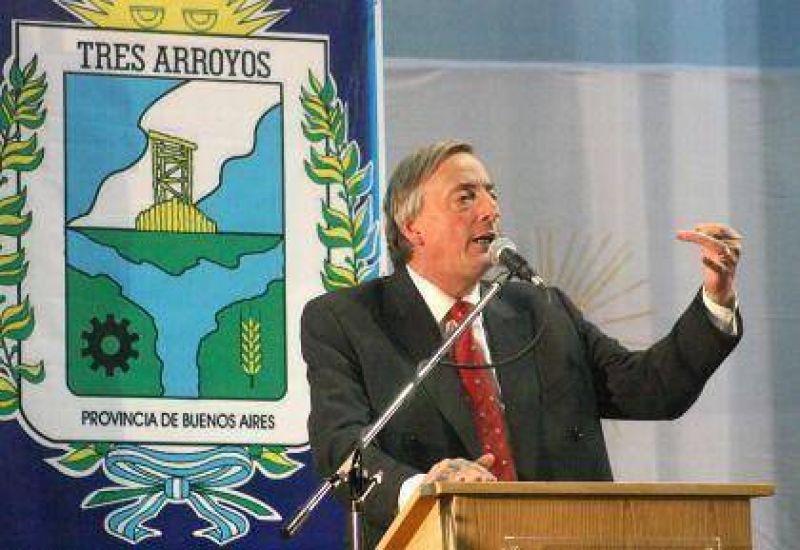 Néstor Kirchner visitará Tres Arroyos el 14 de abril