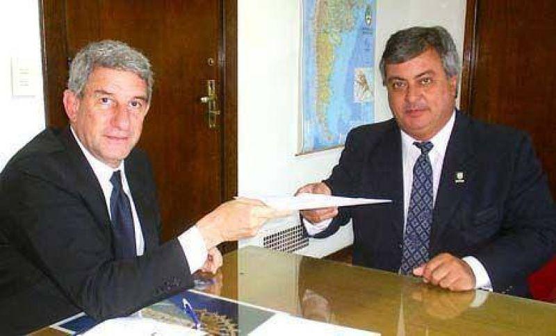 El Intendente estuvo con el subsecretario de Obras Publicas
