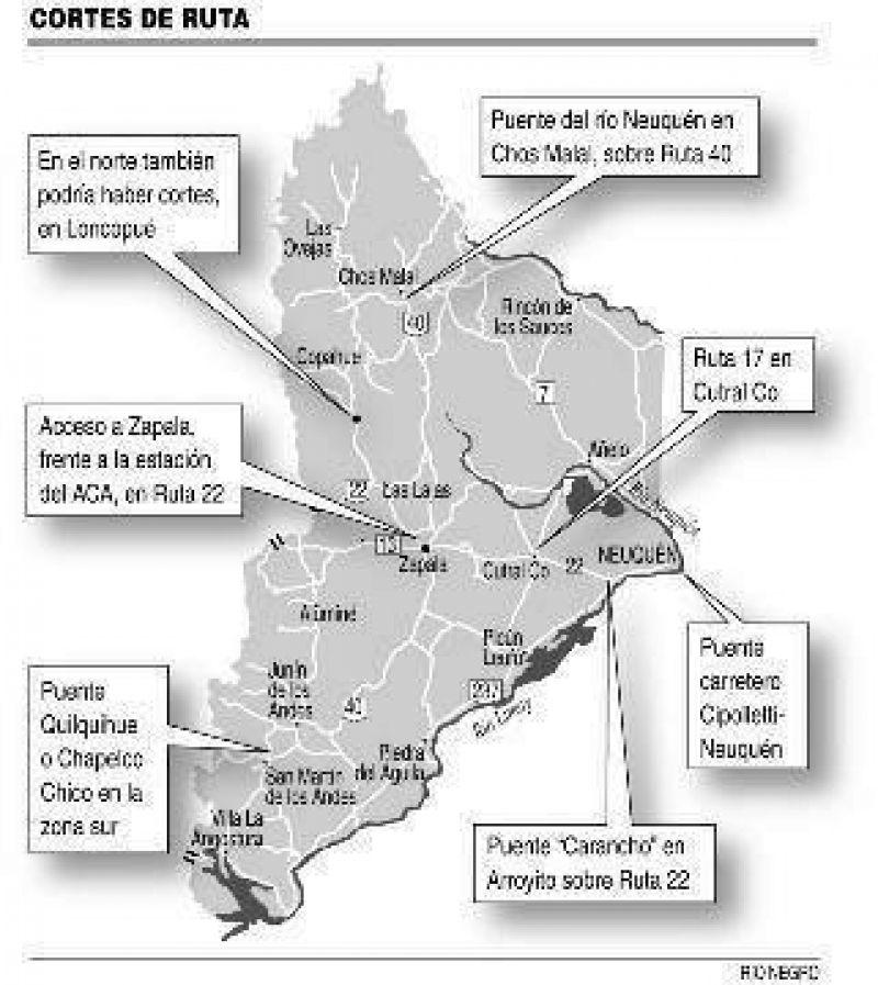 Cortes y marchas en distintos puntos de Neuquén