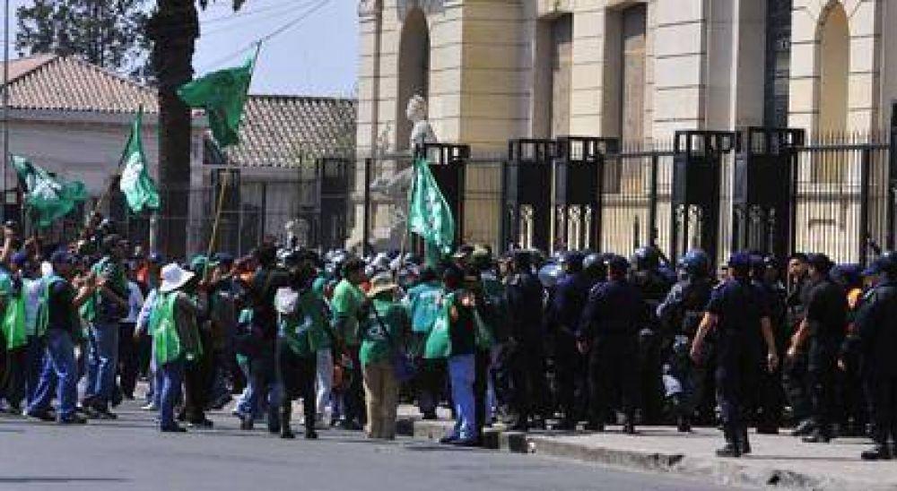 Incidentes durante la movilización De ATE