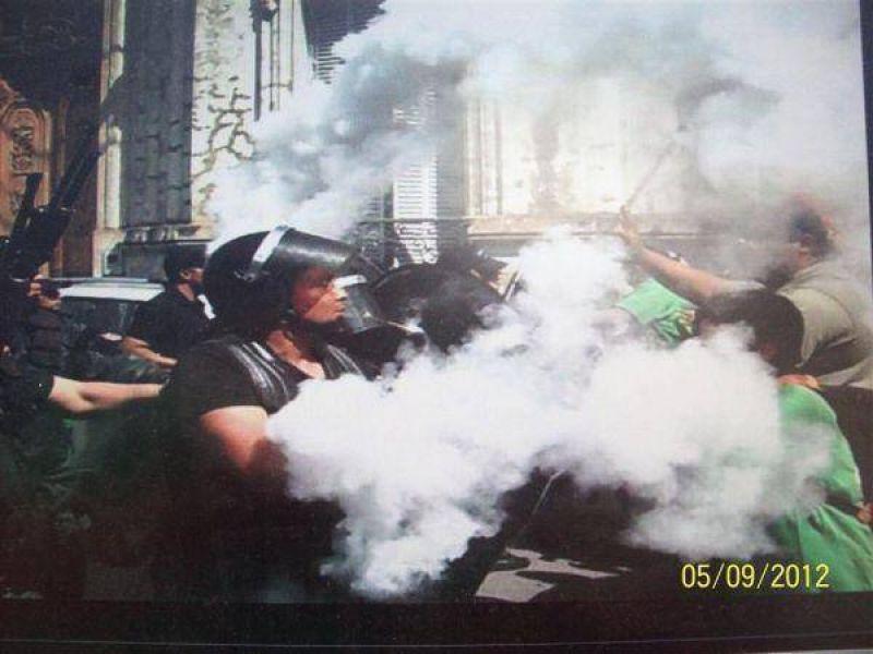 M�s de 7 heridos durante el enfrentamiento entre la polic�a de Jujuy y manifestantes de ATE