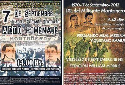 En dos actos separados se celebró el Día del Militante Montonero