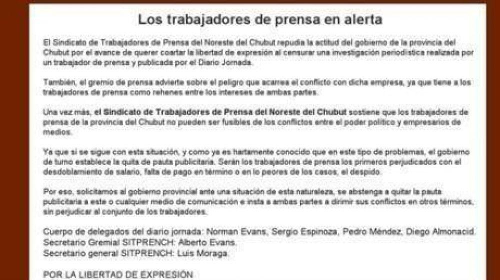 El Sindicato de Prensa se declaró en alerta por el ataque al diario Jornada