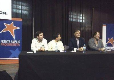 Binner en reunión del FAP de la Primera Sección en San Martín