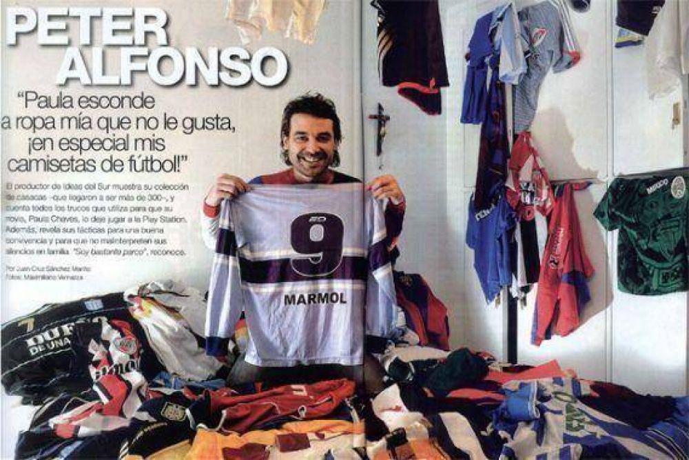 Pedro Alfonso y su gran colección de camisetas de fútbol afe3ae5c992