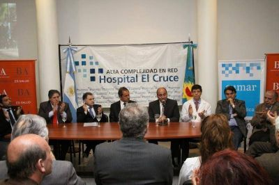 Scioli adhirió al plan nacional Sumar en el Hospital El Cruce