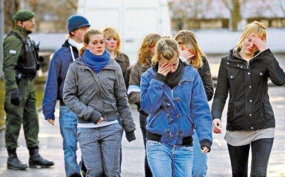 Terror en una escuela alemana: mató a 15 personas y se suicidó