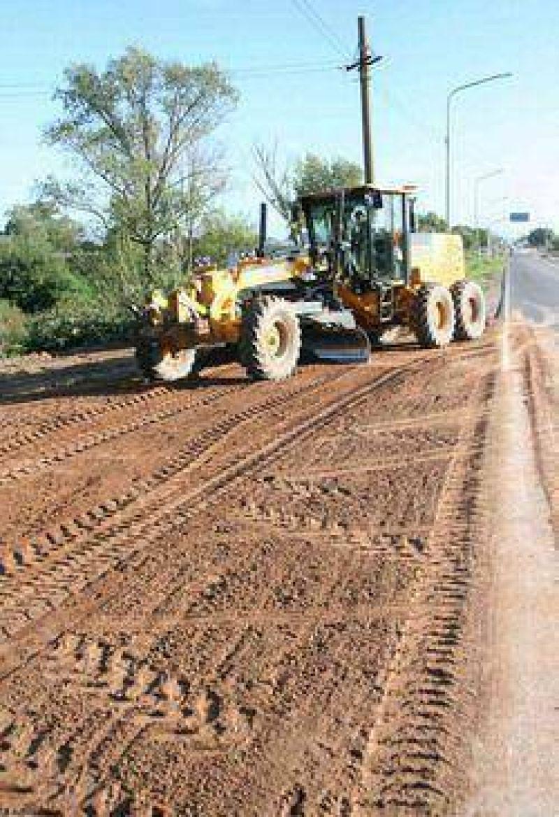 Los trabajos en la ciudad no se detienen: El municipio realiza obras en el barrio El Destino