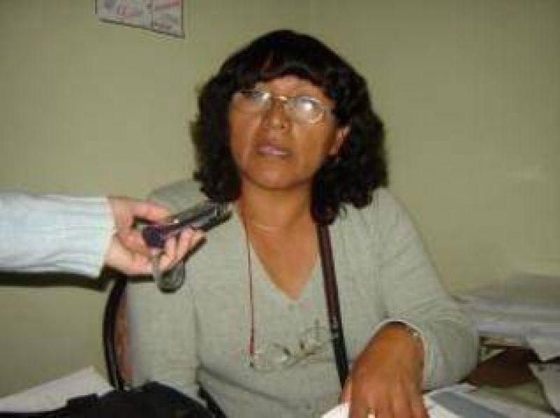 """Miriam Quispe, Secretaria Gremial de ADEP: """"No vamos a claudicar en la lucha""""."""