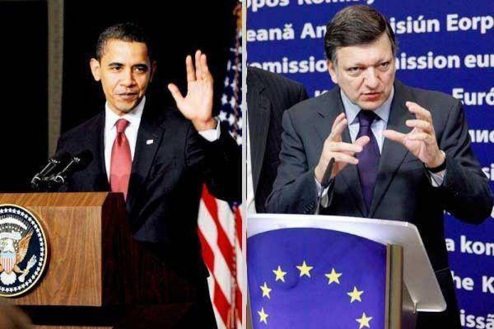 La crisis enfrenta a Obama con la UE