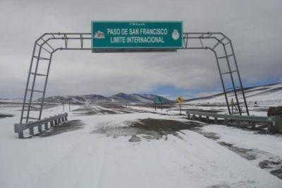Se interrumpió el tránsito vehicular por nevadas