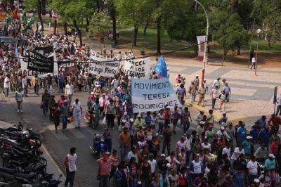 La presidenta no vino pero la marcha de protesta se hizo igual