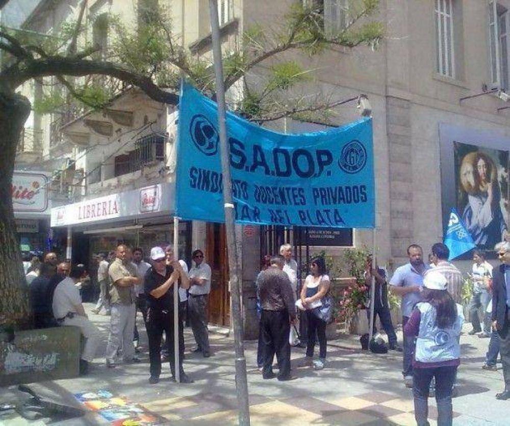 Sadop reclama paritarias y convenio colectivo de trabajo