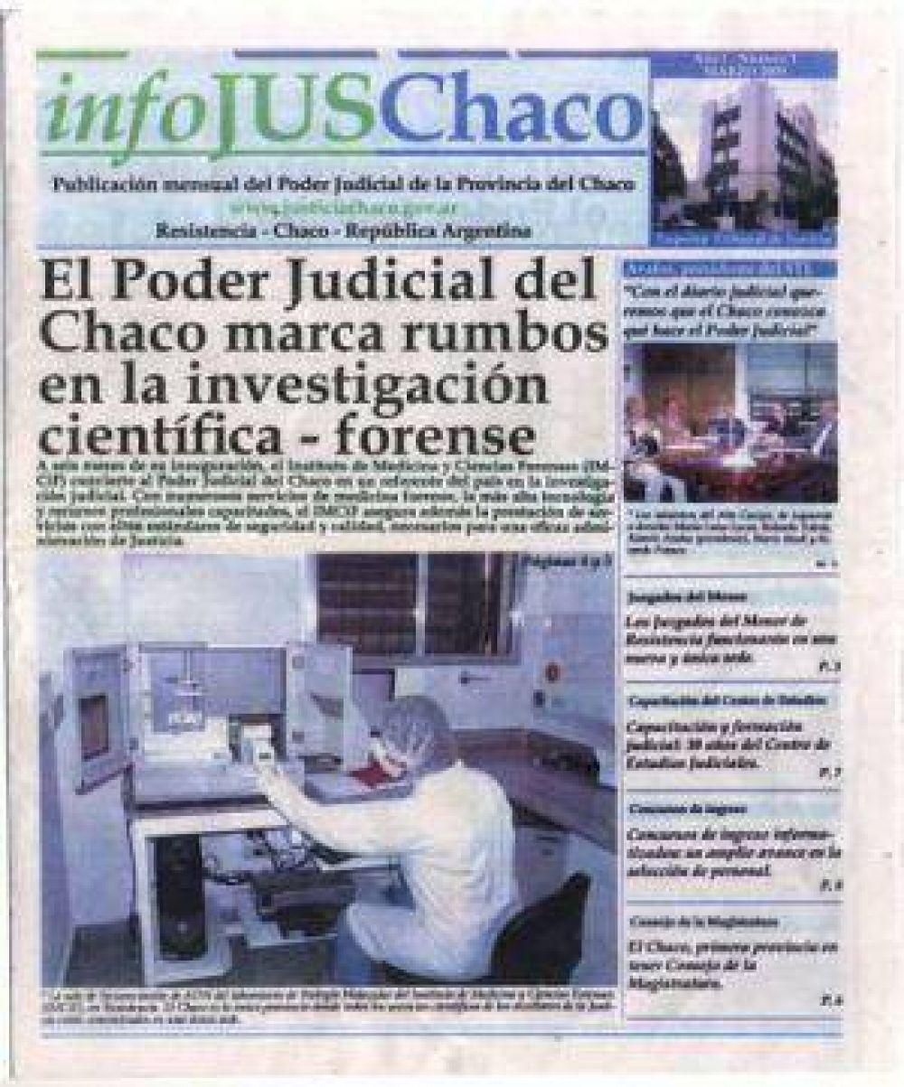 La Justicia del Chaco puso a circular su propio diario