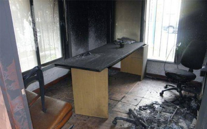 Interna feroz en el Sindicato de la Carne de Pilar termin� con el incendio de una sede del gremio