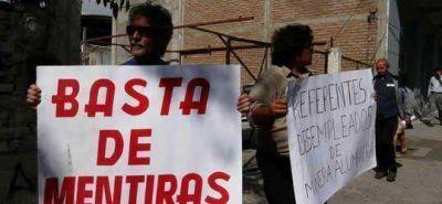 Desocupados de la Alumbrera se manifestaron frente a la Corte de Justicia