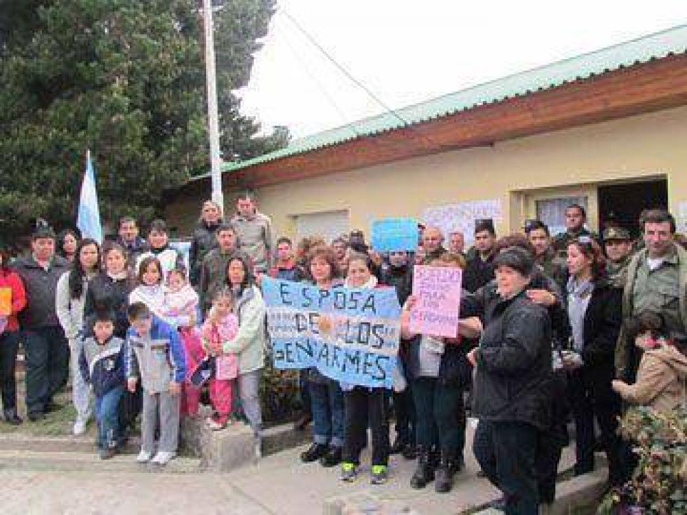 Gendarmería de El Calafate se sumó a la protesta nacional