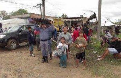 El gobierno asistió a unas 120 familias afectadas por el violento temporal de viento, lluvia y granizo