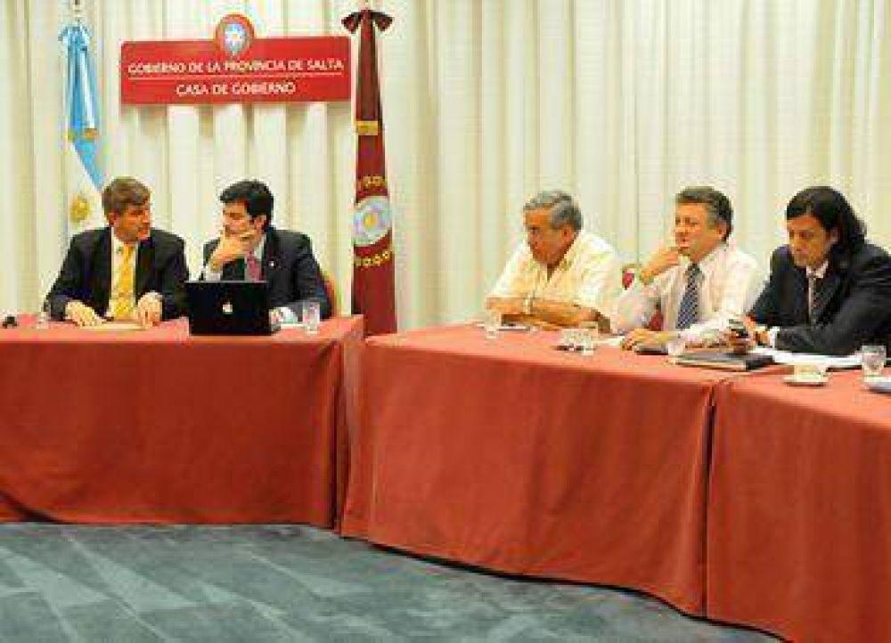 Reunión del Gabinete provincial.