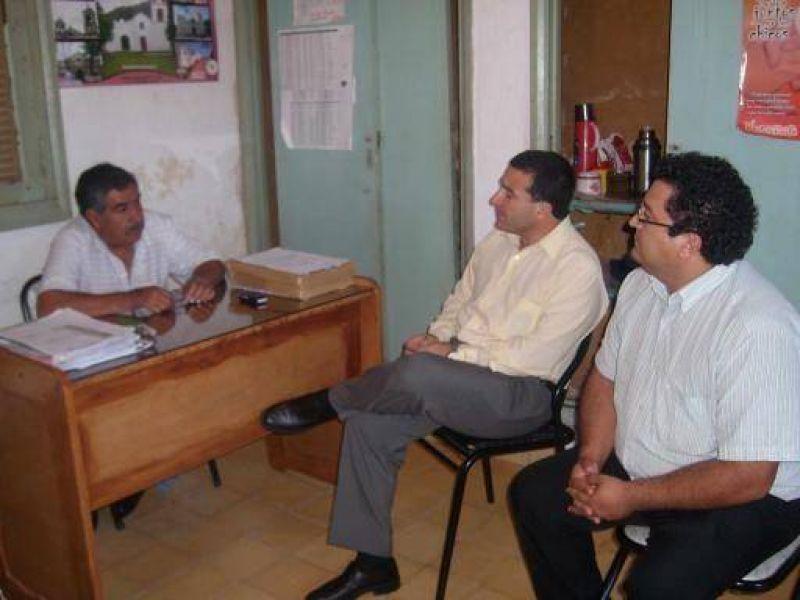 Visita del ministro Vega a Belén.